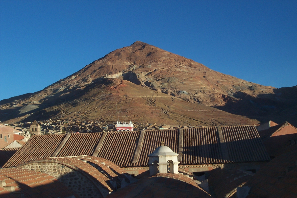 The ancient mining town of Potosi is at an altitude of 4,000 metres in the Andes mountains.