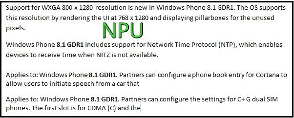 Windows Phone 8.1 GDR1