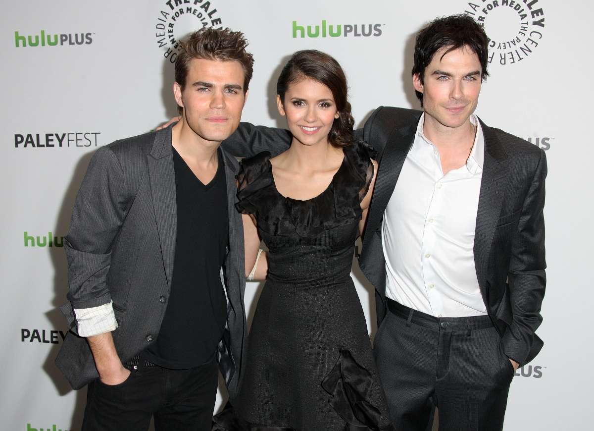 The vampire diaries actors Paul Wesley, Nina Dobrev and  Ian Somerhalder