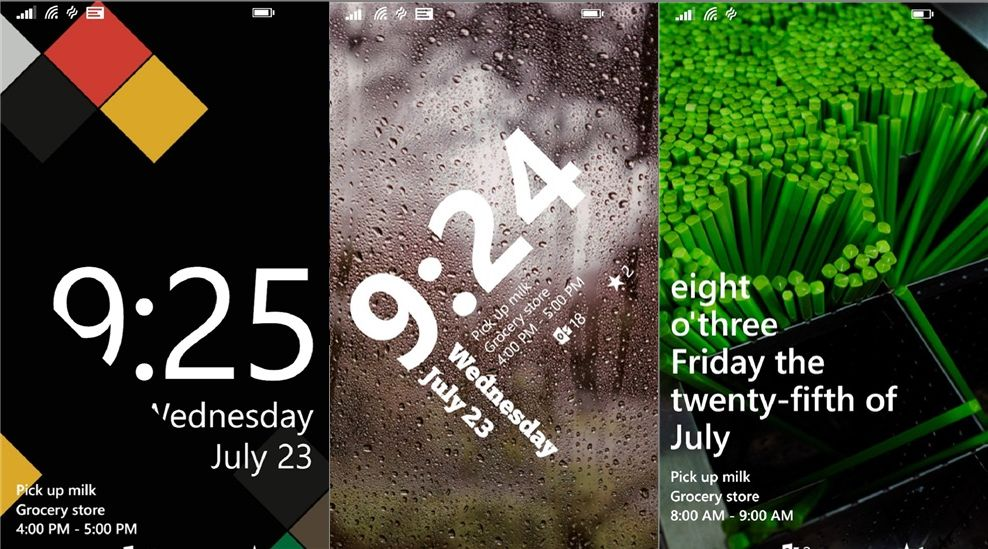 Windows Phone 81 Live Lock Screen