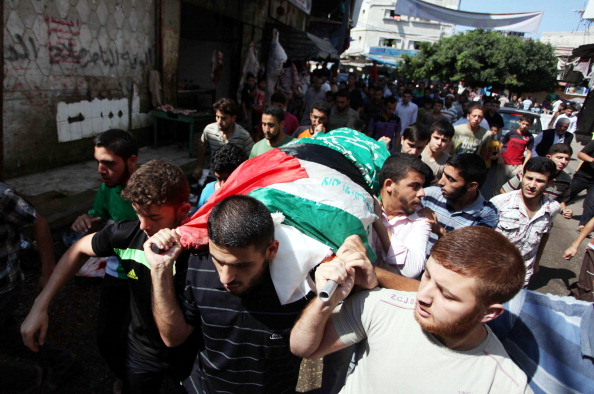 Funeral ceremony of Palestinian killed by Israeli forces in Gaza