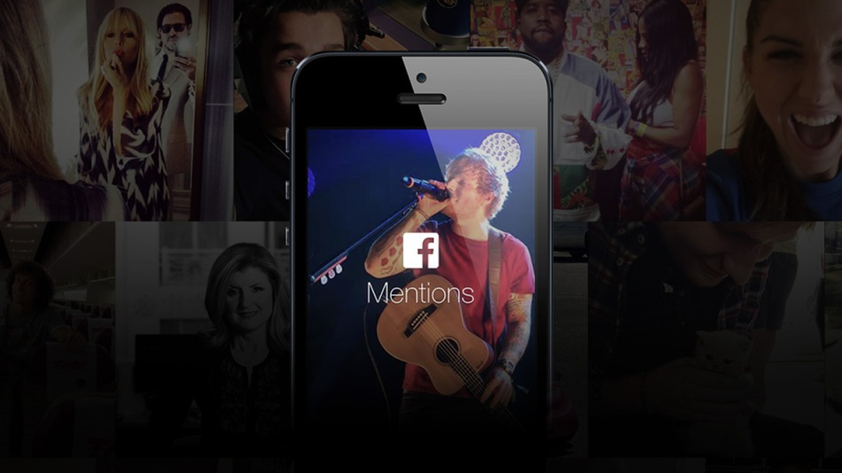 Ed Sheeran Facebook mentions app