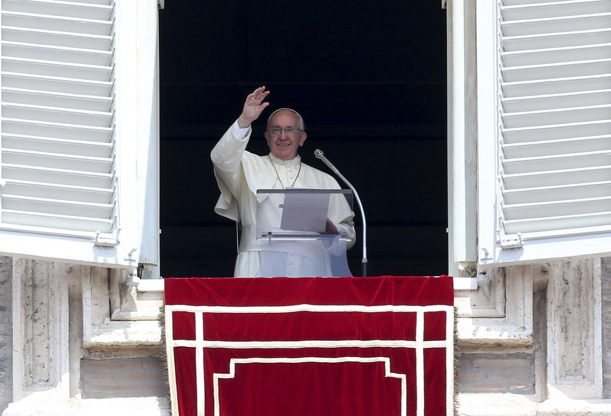 Pope Francis delivers weekly Angelus Address, St Peters Square, Rom