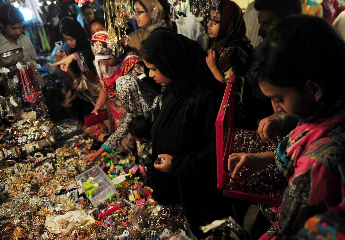 Pakistani Women Shopping for Jewellery