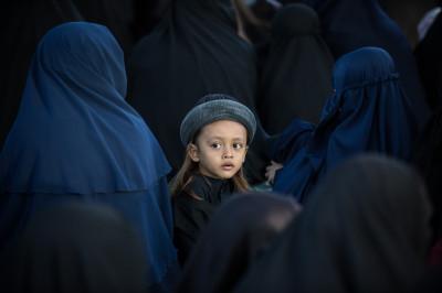 Boy In Eid Al Fitr Mass Prayer By Islamic Community An-Nadzir In South Sulawesi
