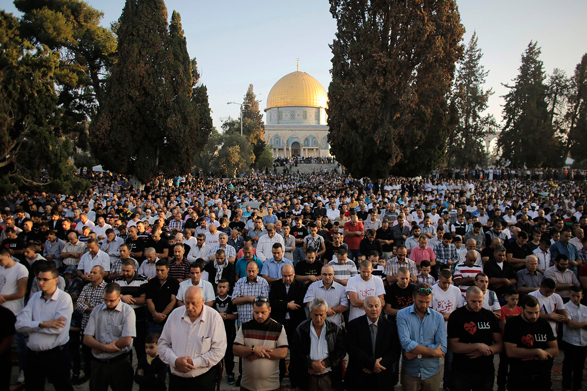 eid dome rock jerusalem