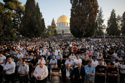 eid dome rock jerusalem
