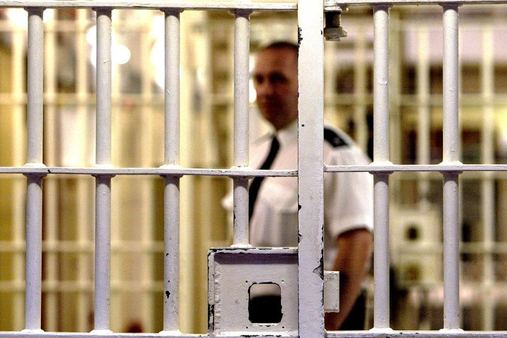 prison bars officer