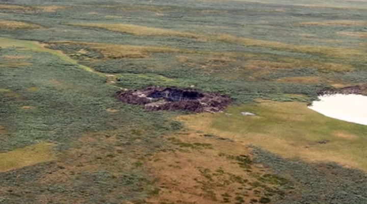Crater siberia Yamal Peninsula