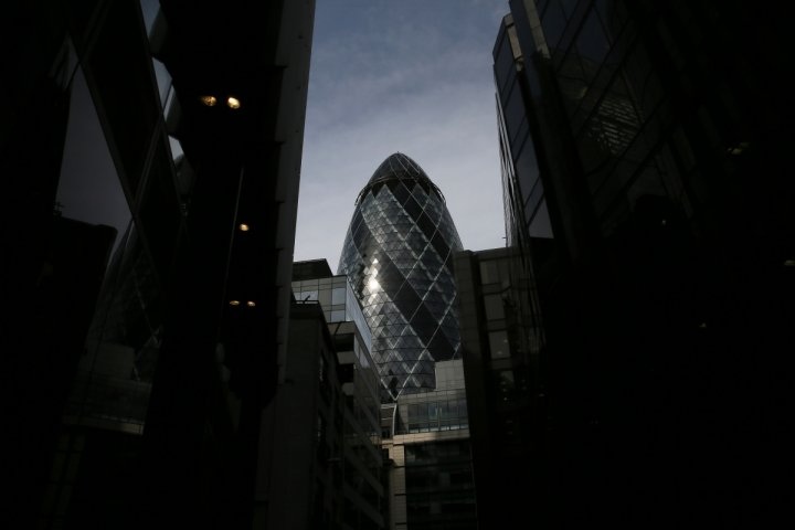 The 30 St Mary Axe skyscraper, which is known locally as
