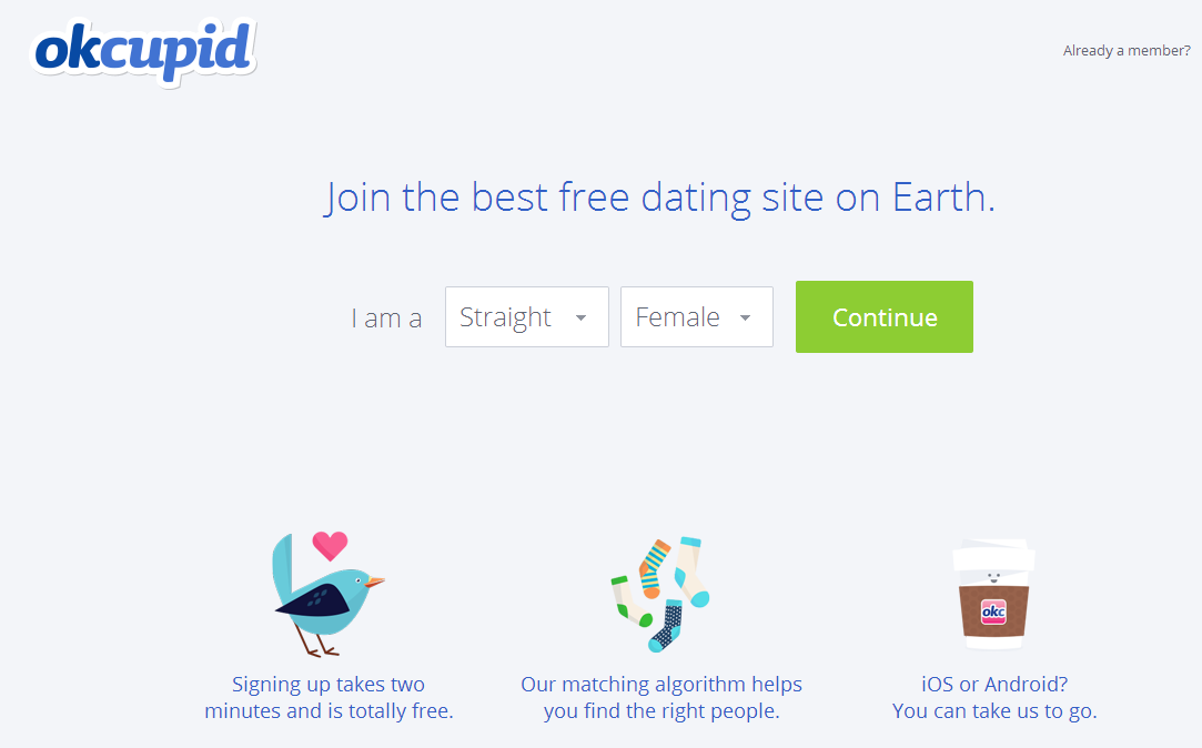 okcupid free dating site log in