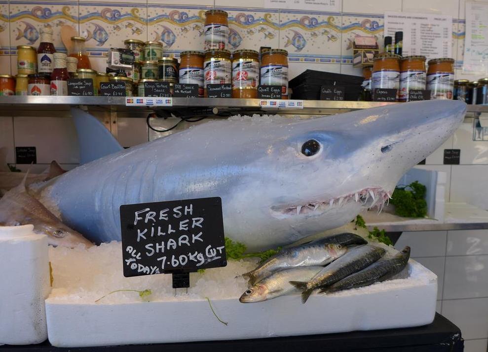 Shark Attack Prank at London Fishmonger