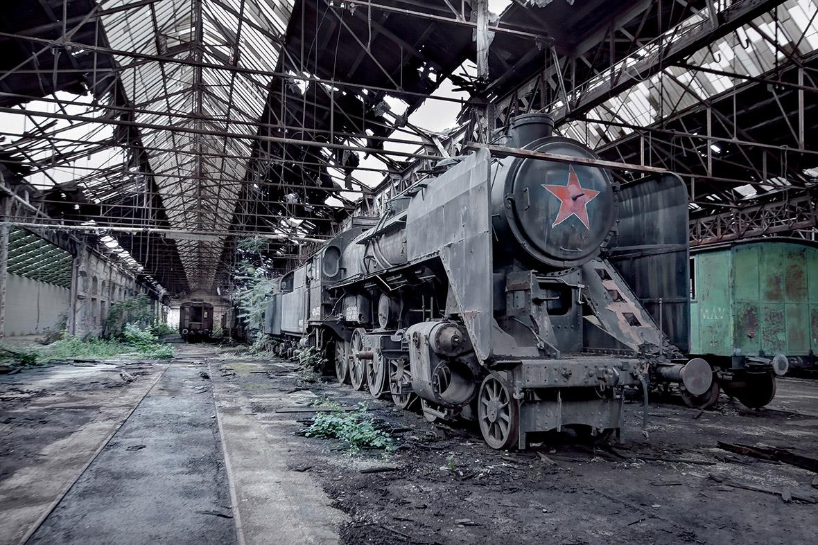Hungary Máv Class 424 Steam Train