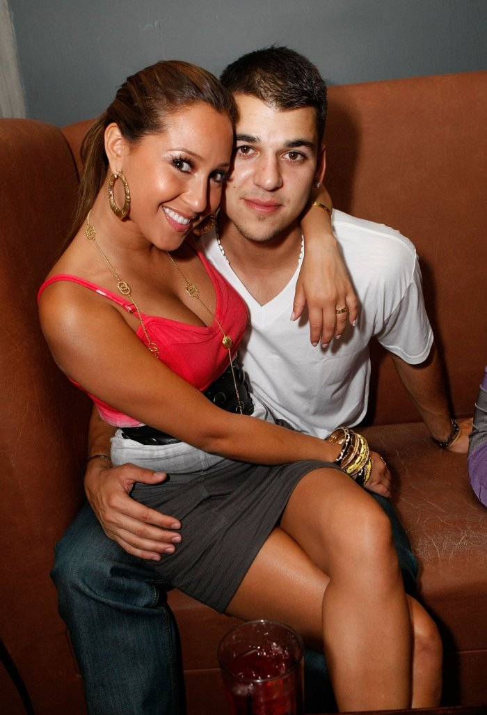 Rob Kardashian with Singer Adrienne Bailon