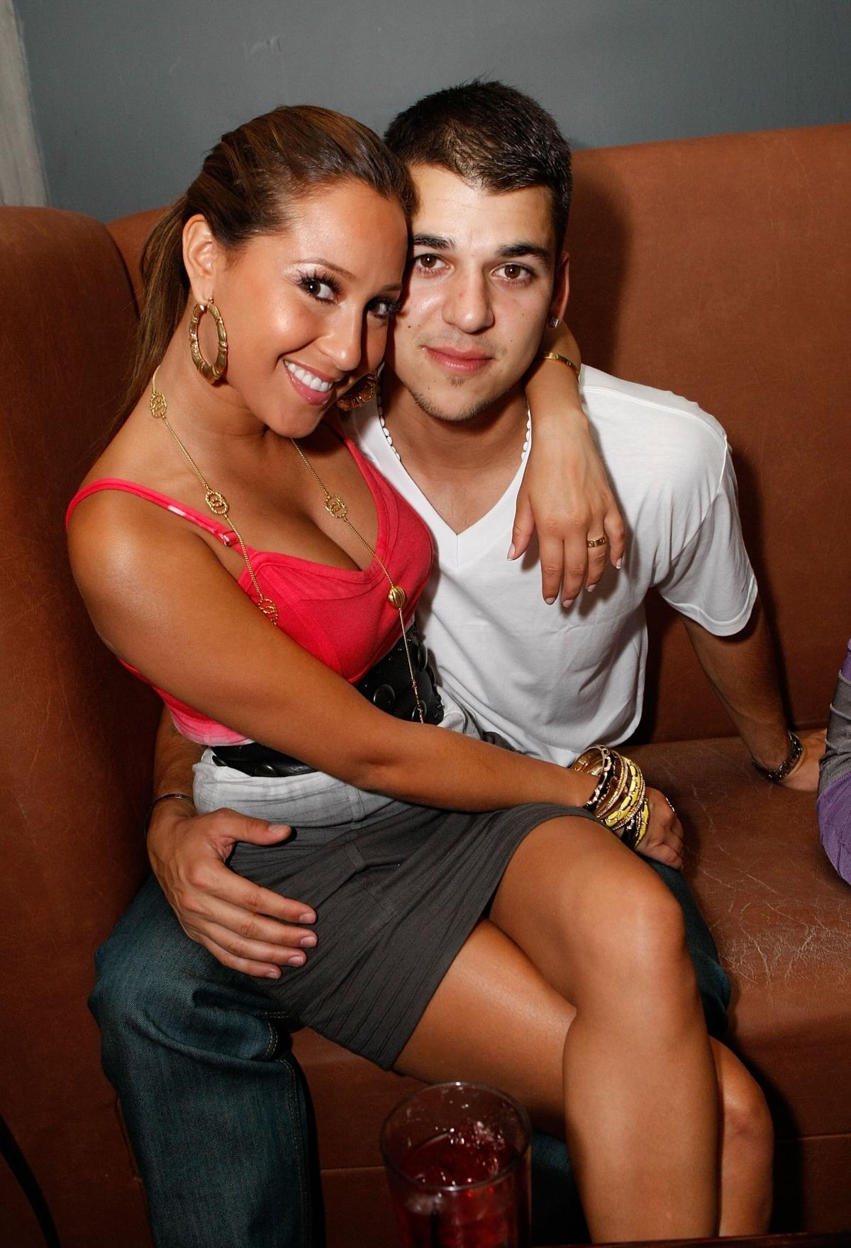 Rob Kardashian with Singer Adrienne Bailon