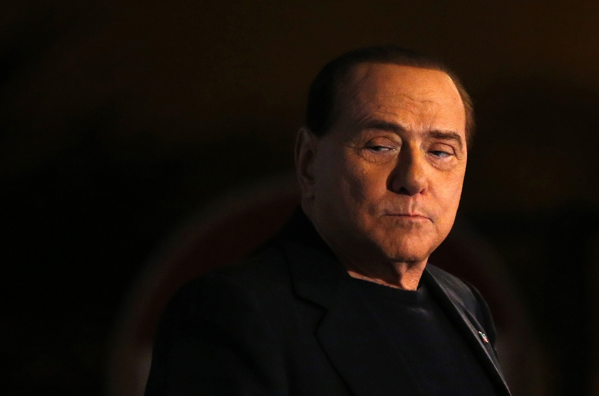 Top Sexiest Accent is Italian, According to Brits. Pictured Former italian Prime Minister Silvio Berlusconi