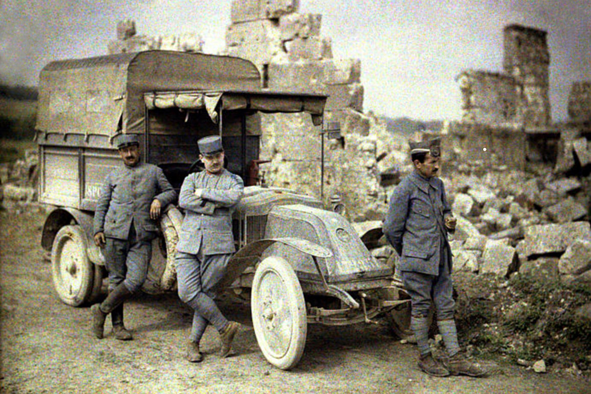 WWI 100th Anniversary Rare Colour Photos From The Trenches Of First World War