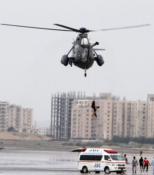 Karachi beach accident