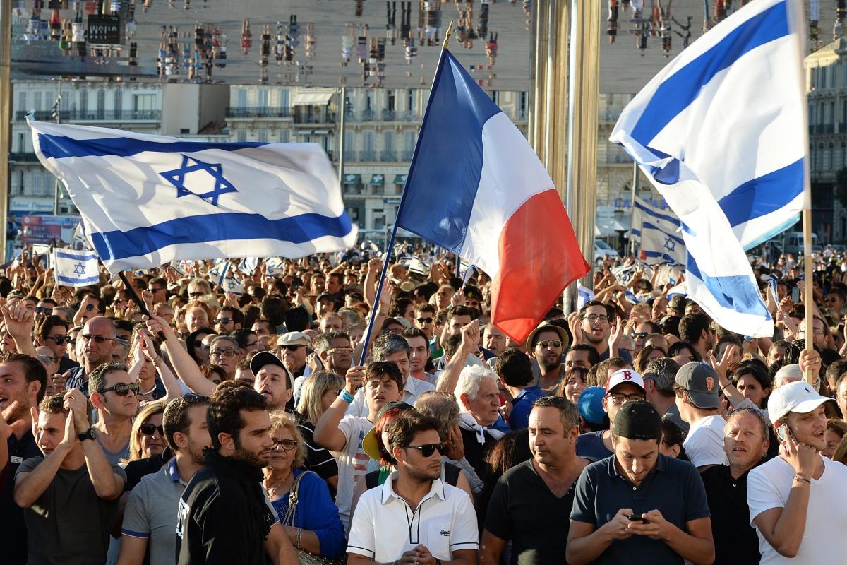 Israel protest France