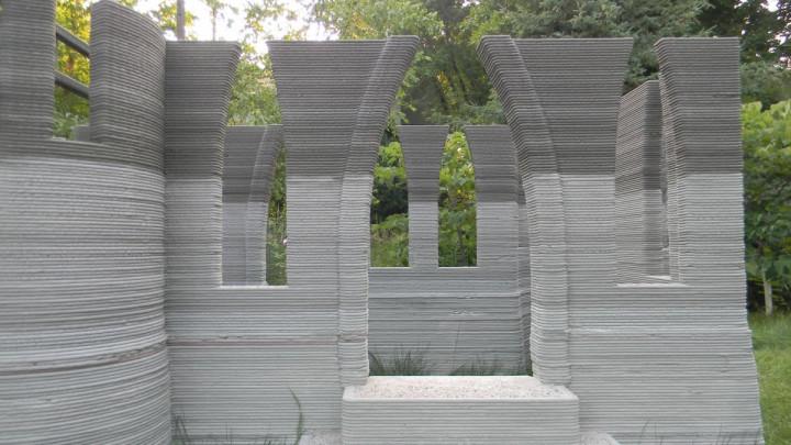 A 3D-printed castle