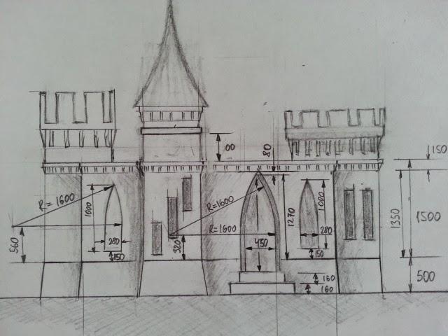 3D-printed castle sketch