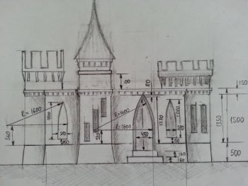 3D-printed castle sketch
