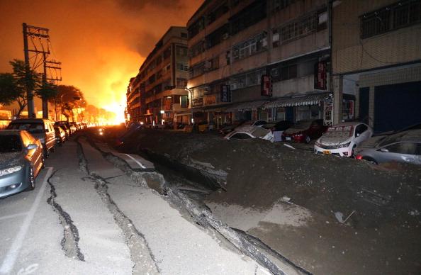 Taiwan Gas Blasts