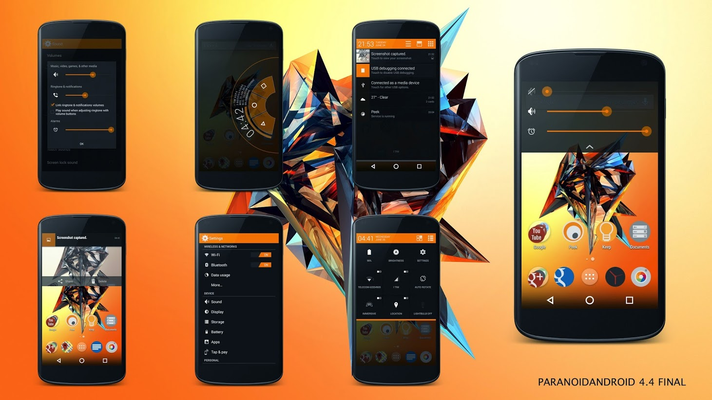 ParanoidAndroid Final ROM Brings Android 4.4.4 KitKat for ...