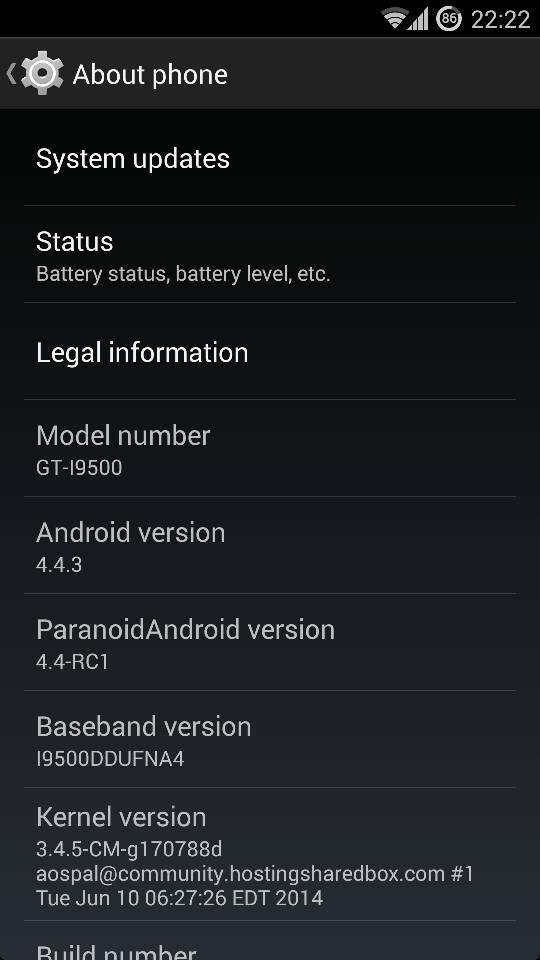 ParanoidAndroid Final ROM Brings Android 4.4.4 KitKat for Galaxy S4 I9500/I9505