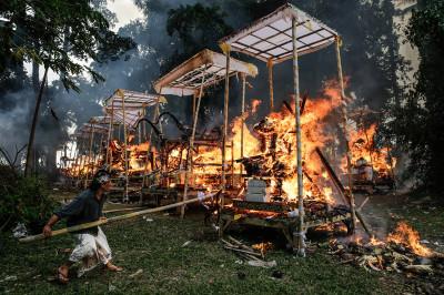 Bali mass cremation