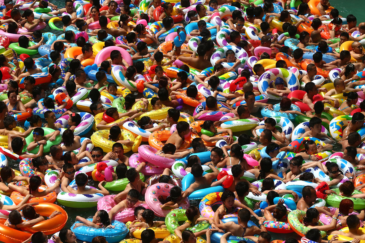 crowded pool china