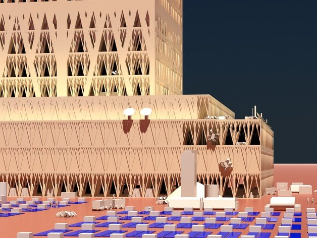 3D-printed Martian base 2