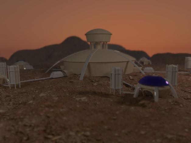 3D-printed Martian base 4