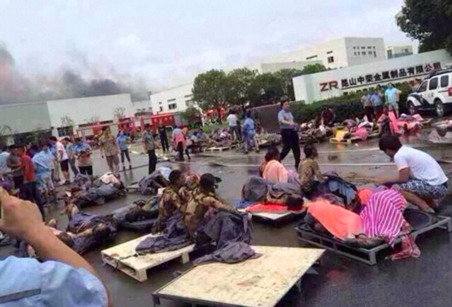 China blast
