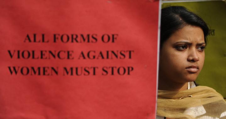 Anti-rape protester in Delhi in 2012. (Sajjad Hussain Getty/AFP)