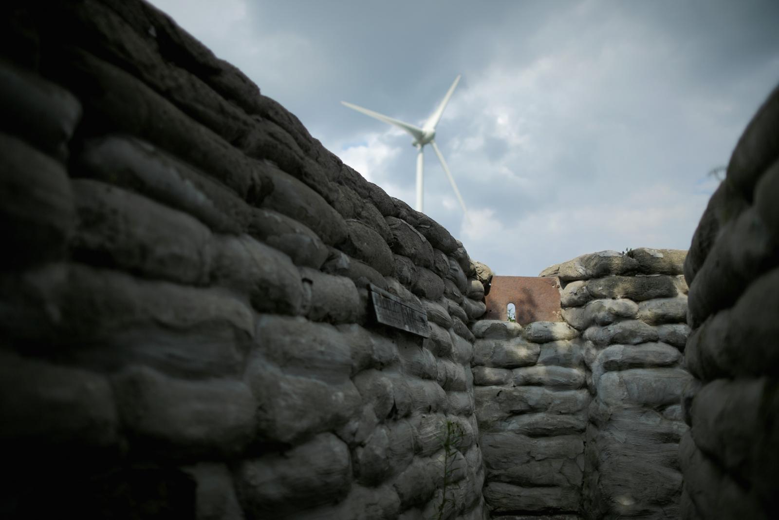 WW1 Wind Turbine Over Yorkshire Trench