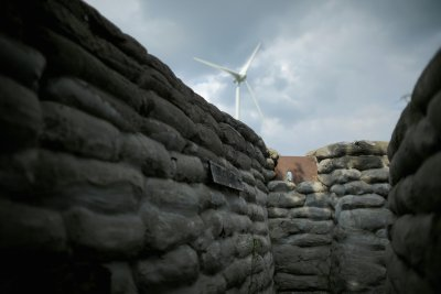 WW1 Wind Turbine Over Yorkshire Trench