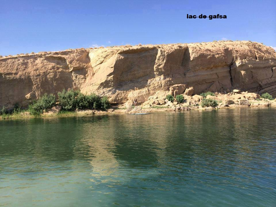 Lake Gafsa is around 25km from the Tunisian city of Gafsa.
