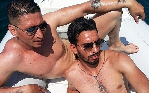 Domenico Palozzatto (L) and friend in picture posted on pseudonymous Facebook page. (facebook)