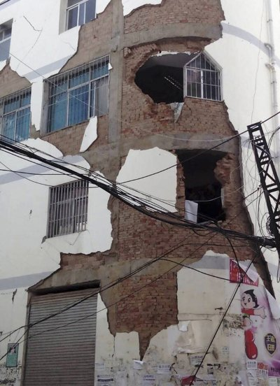 Yunnan Earthquake damaged building
