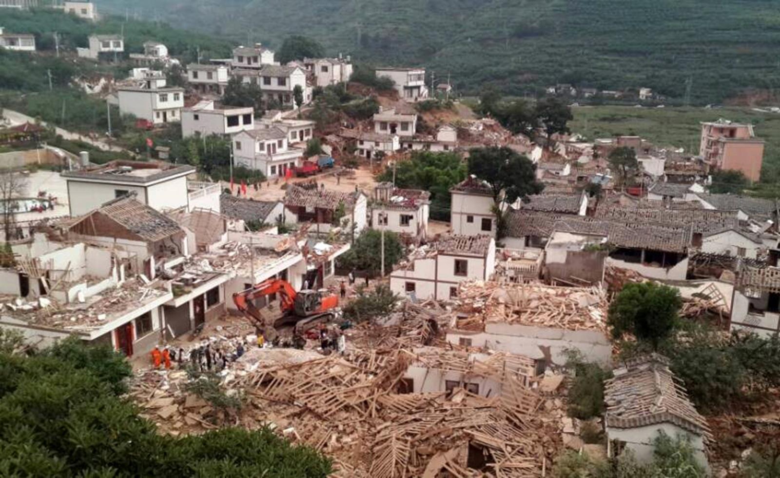 Yunnan earthquake collapsed buildings
