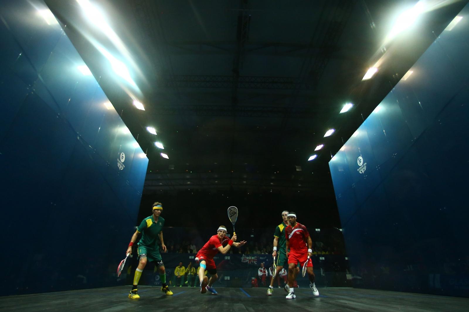 Squash men's doubles final