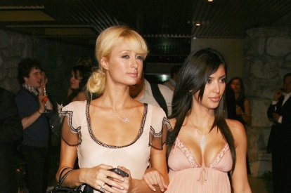 Actress Paris Hilton and Kim Kardashian