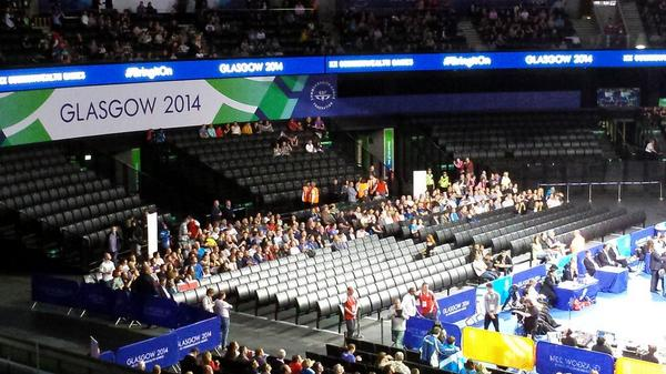 Glasgow 2014 empty seats