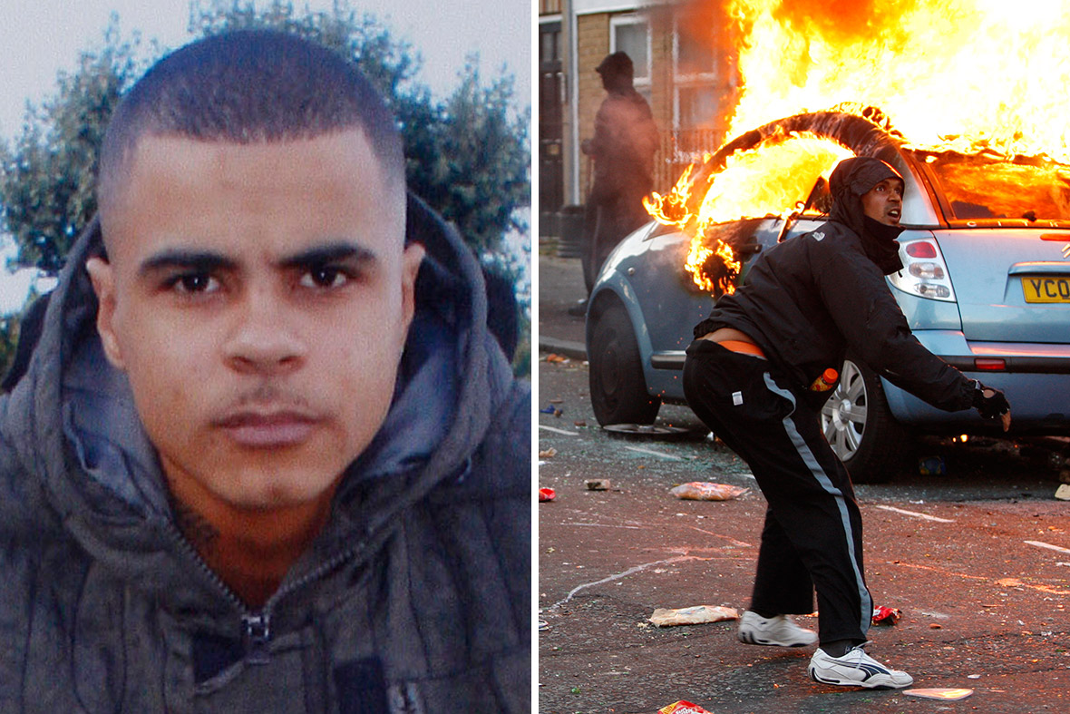 March in memory of Mark Duggan (l) who's death sparked the London riots of August 2011