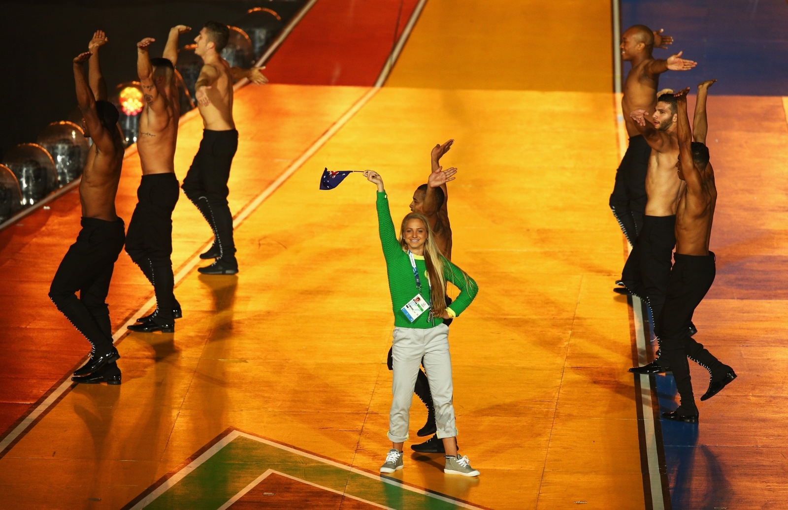 Genevieve LaCaze stage-bombed Kylie Minogue during the Commonwealth Games' closing ceremony