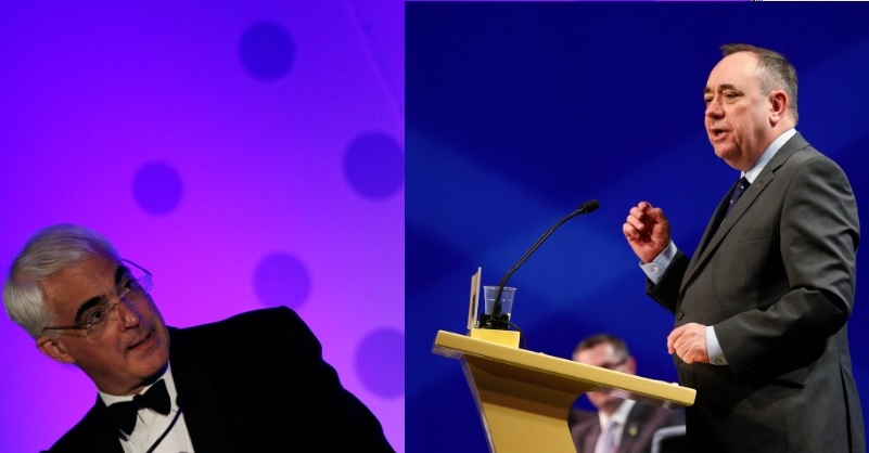 Scottish Independence: Alastair Darling and Alex Salmond Sparring Live in TV Debate