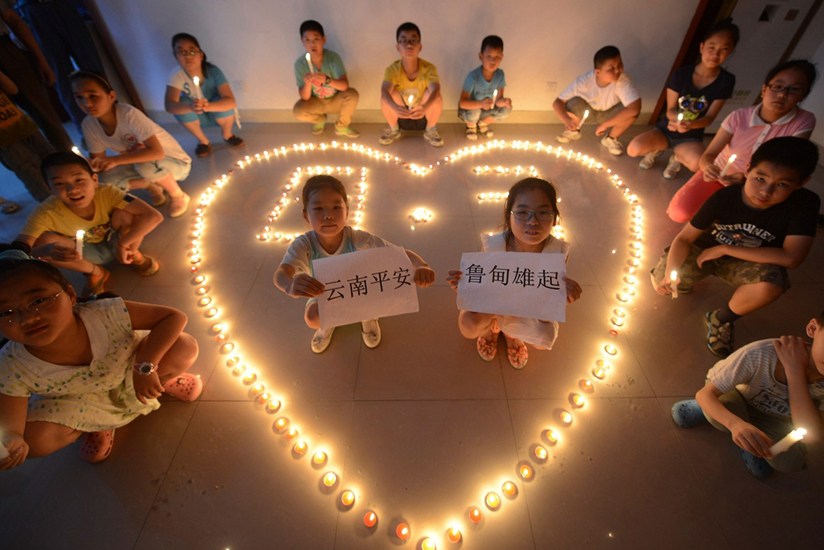 china earthquake candles