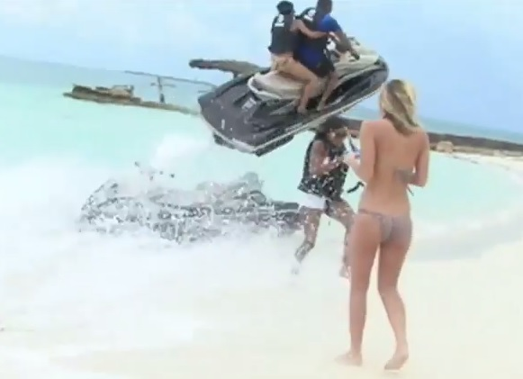 Woman had lucky escape during Bahamas holiday when jet ski flew over her head