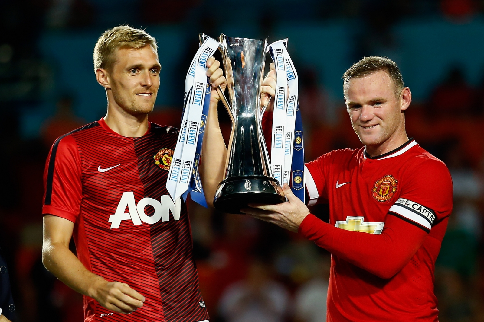 Darren Fletcher and Wayne Rooney
